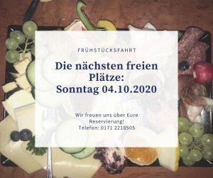 Frühstücksfahrt 04.10.2020
